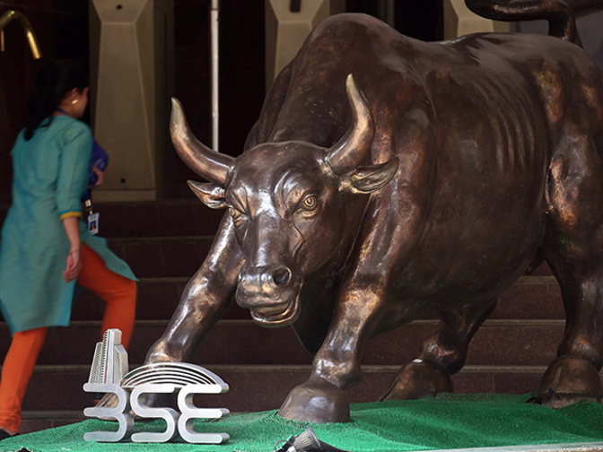 Sensex jumps 122 points ahead of F&O expiry; Bharti Infratel surges over 6%