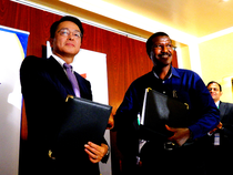TTDI Chairman & Managing Director Katsutoshi Toda & Kenya Power Managing Director & CEO Ben Chumo.