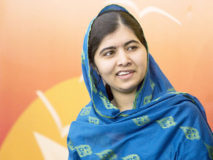 Yousafzai, 19, became a global symbol of the fight for girls education after being shot in the head in October 2012 for opposing Taliban restrictions on female education.