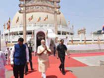 Prime Minister Narendra Modi visited at Deekshabhoomi in Nagpur on occasion of Dr Babasaheb Ambedkar Birth Anniversary.
