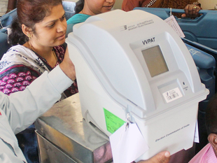 VVPAT  unit is linked to the electronic voting machine which allows an elector to confirm whether the EVM has properly registered his vote given to a particular candidate.