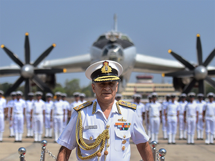 """With the commitment and team work of the naval personnel, the Indian navy has grown into a strong force in the world and is ready to face any eventuality,"" Sunil Lanba said."