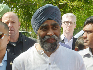 Sajjan, who is on a seven-day visit to India, later held meeting with Haryana Chief Minister Manohar Lal Khattar at Chandigarh airport.