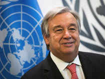 """""""In his meetings at the White House, the secretary-general felt he had had an interesting and constructive discussion on cooperation between the US and the UN.""""  In Pic:  Antonio Guterres"""