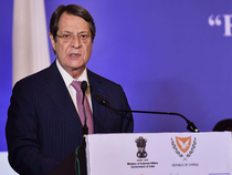 Cyprus President Nicos Anastasiades at India-Cyprus Business Session.