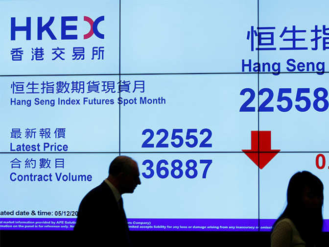 Hong Kong stocks pull back from 20-month high