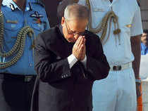 The president arrived at about 8.25 AM to pay obeisance at the 7th century shrine located 10,170 feet above sea-level.