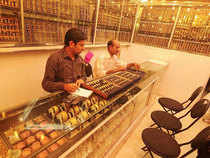On account of subdued demand of gold from jewellers, investors and retailers, gold was trading flat on Thursday morning.