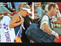 Kerber followed Murray out of the tournament on Tuesday, losing the final 10 games against a qualifier, 68th-ranked Anett Kontaveit of Estonia, in a 6-4, 6-0 defeat in only 56 minutes.