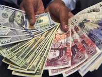 The pound surged to an eight-month high of $1.3048 after strong retail sales figures today.