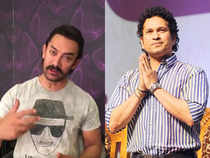 Aamir Khan (left) shared his favourite 'Sachin moment' on Twitter.