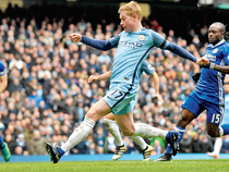 That seemed certain as De Bruyne was presented with a chance to add to Gary Cahill's 45th-minute own goal just after half-time. (File Photo)