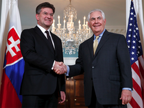 A career diplomat (L), Lajcak is a graduate of the Moscow State Institute for International Relations.