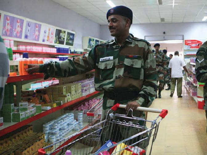 Army Canteen Armed Forces Canteen To Get 50 Per Cent