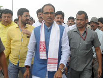 Earlier in the day, several leaders of Congress and AAP were detained by police for their plans to protest during Chouhan's Bargarh visit. ( in Pic-  Shivraj Singh Chouhan)