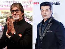 Amitabh Bachchan (left) and Karan Johar (right).