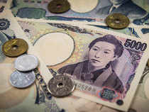 The yen was again weak on Monday, down 0.2-0.3 per cent against the dollar and euro.