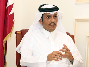"Qatar would not negotiate with its neighbours as long as it faced a ""blockade"", Foreign Minister Sheikh Mohammed bin Abdulrahman al-Thani said."