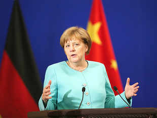 "Merkel said Monday: ""I think it is premature to speculate on the first day of the negotiations how they will end.''"