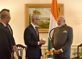 Apple is making phones in India, Tim Cook tells PM
