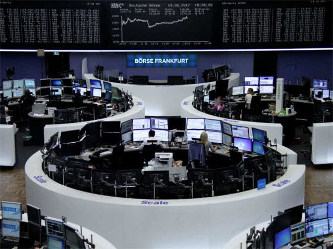 Tech, oil slump sends European shares to two-month low