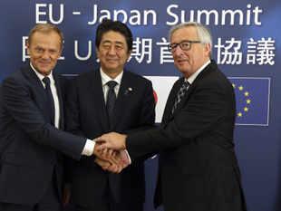 Image result for E.U., Japan enter free tariff agreement