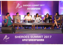 Priya Krishnan,CEO,Founding Years Learning Solutions, Emilie Moulard,MD Medela India, Faisal Farooqui,CEO,MouthShout.com, Mishi Choudhary, Founder, Software Freedom Law Centre, Vinati Kastia, Partner AZB and Partners and Sairee Chahal, Founder & CEO SHEROES at the forum.