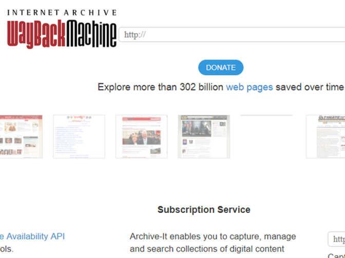 archive s wayback machine