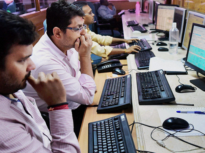 Image result for Sensex hit lowest level, Nifty hit one-week low