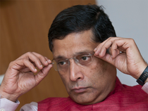 Arvind Subramanian said there were downside risks to the official growth forecast of 6.75-7.5 per cent.