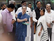 """Her task has been made all the more difficult by the departure of Bihar Chief Minister Nitish Kumar from the """"secular"""" camp to the BJP."""