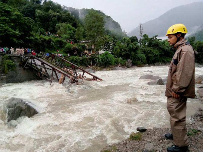 Rains cause landslides, floods in many states; claim 57 lives
