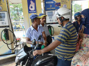 Fuel prices continue to fall as global crude rates ease | The Economic Times