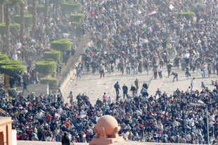 Protest in Cairo, Egypt