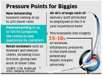TCS, Infosys, Wipro margins to fall as US outsourcing customers like Walmart, Home Depot, Cisco, Ericson cut rates