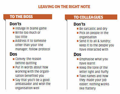 How to write goodbye letter while leaving a company The