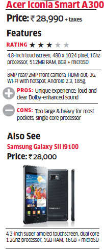 Widescreen wonder: Acer Iconia Smart A300 - The Economic Times