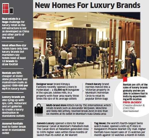 Luxury brands like Kimaya Fashions, Hermes and others prefer heritage homes over five-star hotels