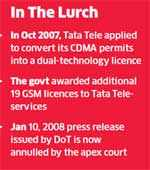 Post-SC order, DoT seeks legal opinion on 19 Tata Teleservices GSM licences