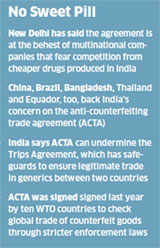 India opposes pharma piracy pact by 10 nations