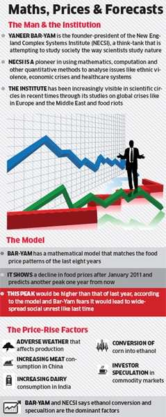 Food prices will peak again this year, says Yaneer Bar-Yam, maths whizFood prices will peak again this year, says Yaneer Bar-Yam, maths whiz