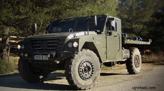 Renault Sherpa Light military truck displayed at 2012 Defexpo - The
