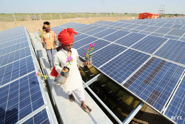Narendra Modi dedicates 'world's first' canal-top solar project to nation