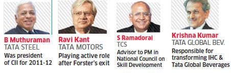 Ratan Tata's lieutenants to be chairmen at Tata Steel, Tata Motors, TCS and Indian Hotels