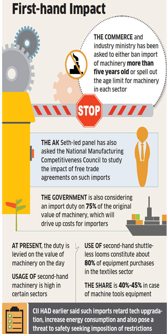 India set to ban import of used plant and machinery