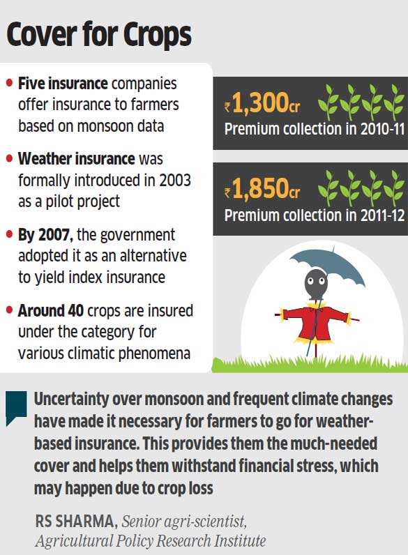 Farmers increasingly using weather insurance to mitigate risks from climate change