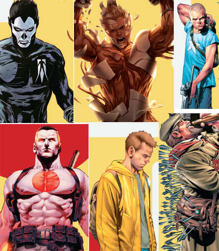 Valiant re-launched five titles based on its popular characters X-O Manowar, Harbinger, Bloodshot, Archer and Armstrong and Shadowman.
