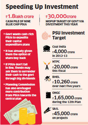 Finance ministry to ensure PSUs meet investment target