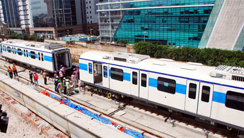 All three coaches of Rapid Metro in Gurgaon are put on track