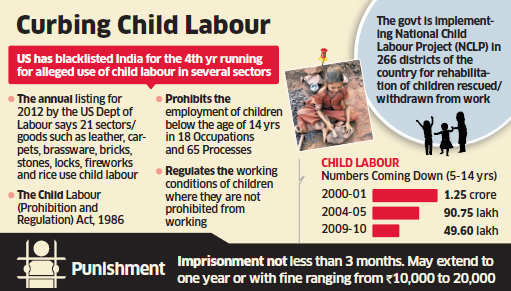 India will strongly take up the issue of the United States continuing to blacklist its select industry for alleged child labour use despite the government and the industry taking steps to address the issue.